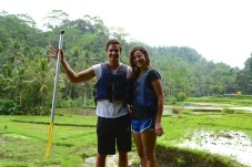 Laurens and I after rafting the Ayung River. So much fun and with beautiful views to boot.