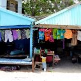 Vendor set up on the main beach.