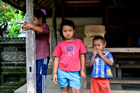 Some children in their family compound.