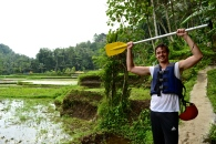 Laurens after successful surviving white water rafting.