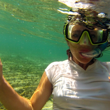 Snorkeling with the GoPro.
