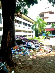 More trash outside the old Pusat Bahasa