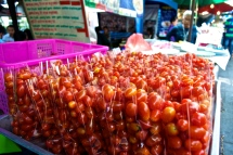 Fresh tomatoes for sale.