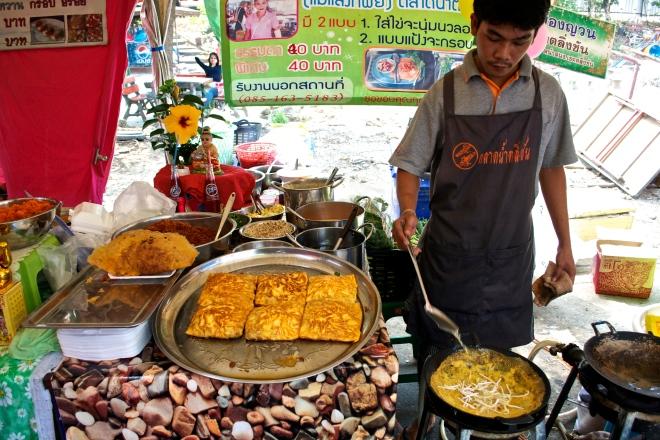 Egg omelette Thai style.