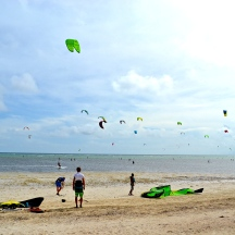 Windsurfers on Bulabog Beach
