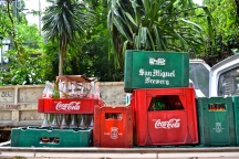 Crates of Coca-Cola near Baling Hai