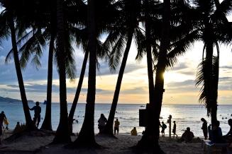 White Beach at sunset
