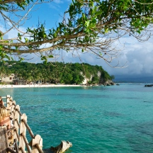 A view of Diniwid Beach from Spider House