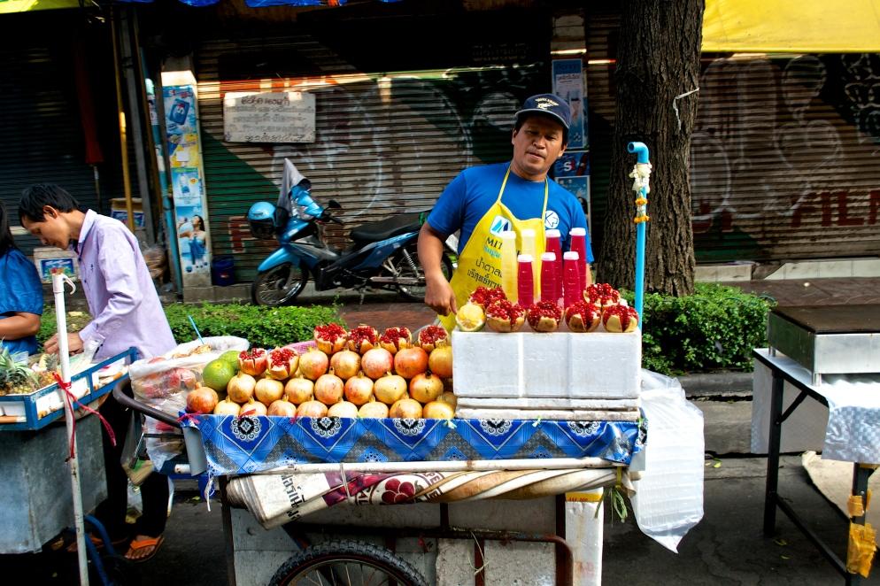 Fresh fruit juice in China Town.