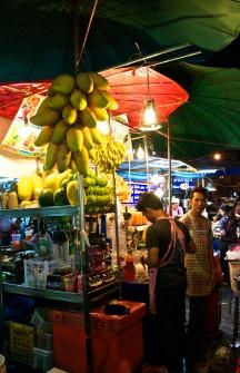 Mangos and fruit galore. Khao San.
