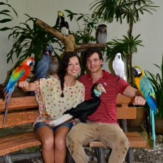 At the bird park in KL