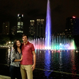 Me and my love at the fountain at KLCC.