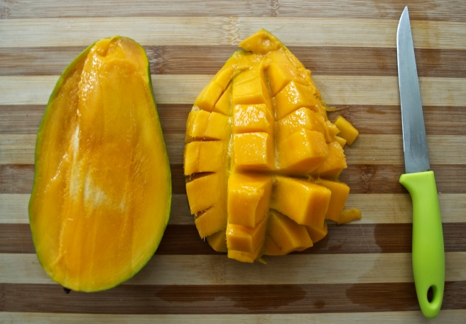 Succulent mangos from Thailand.