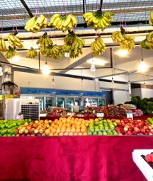 Colorful fruit at my favorite stall.