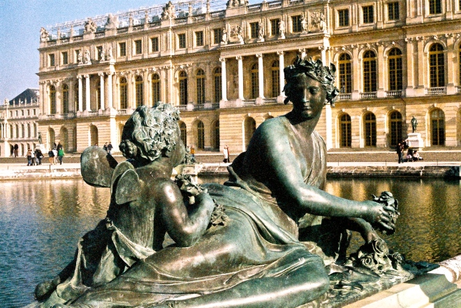 A fountain at Versailles.