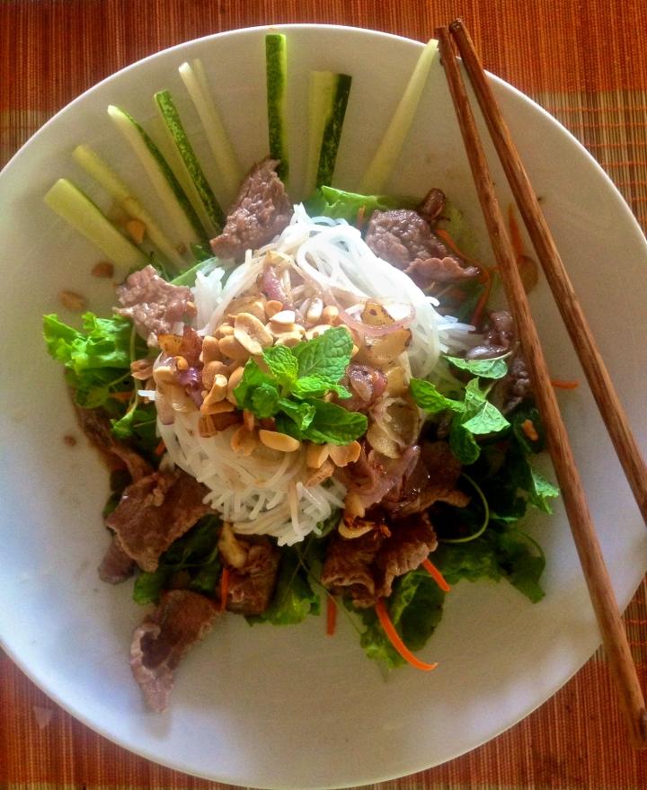 Viatnamese Beef Noodle Salad- Bún Bò NamBo