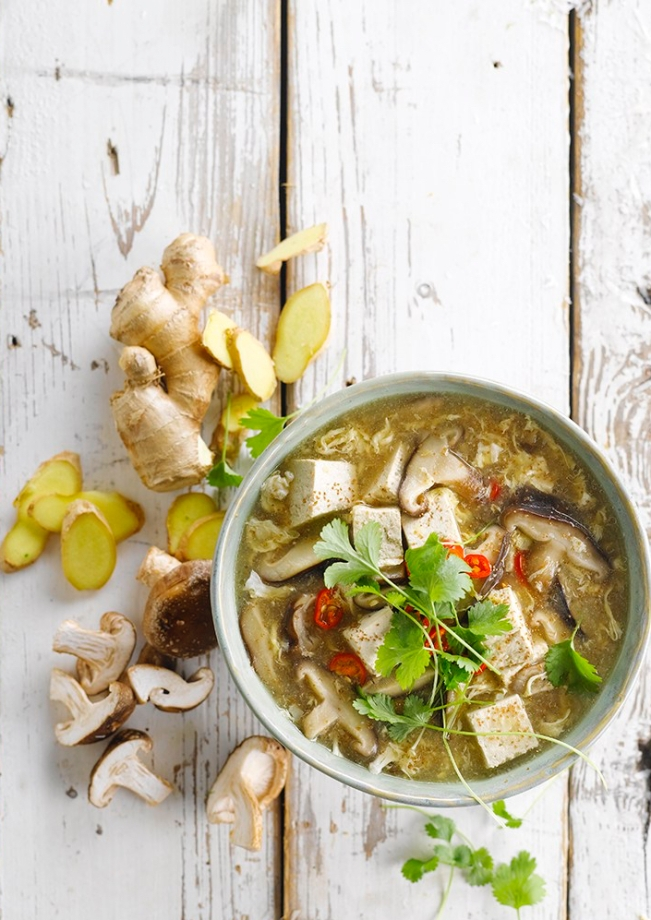 Hot & Sour Soup with Teff Recipe