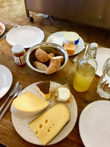 Cheese plates and gourmet galore for lunch