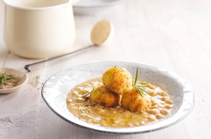 Chickpea Soup Rissoles recipe