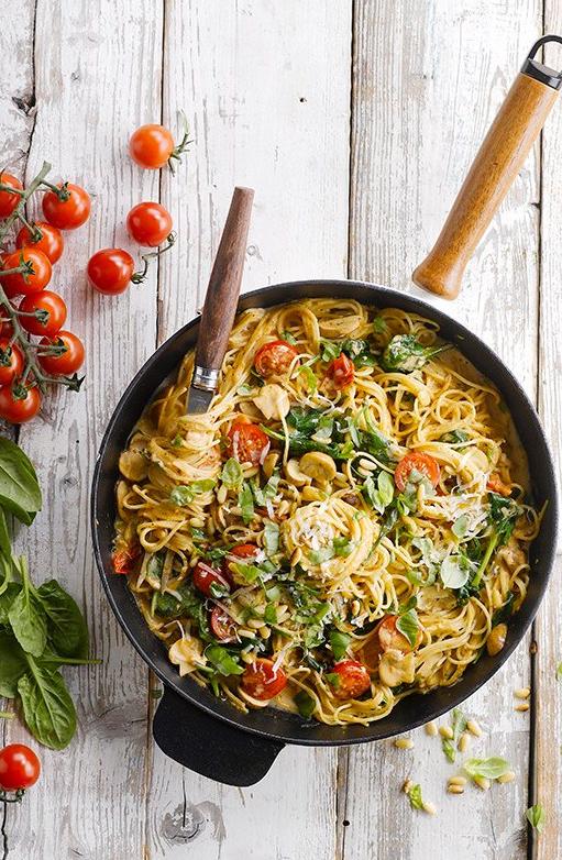 Spinach Tagliatelle Pasta recipe